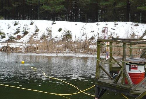 napowietrzanie zbiornika wodnego zimą